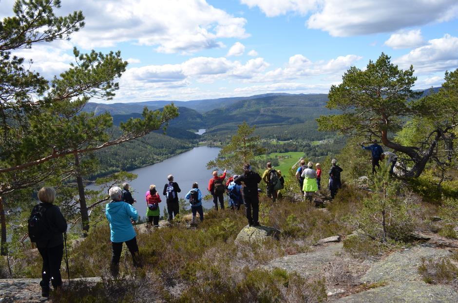 Halvor Nordbø forklarer hva vi ser fra vestsida av Nåsnibben. Alle foto: Eldbjørg Lia Ettestad