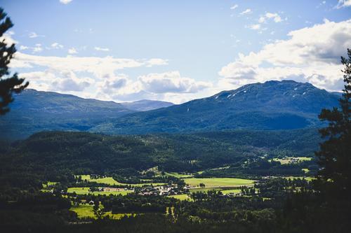 Flott utsikt fra Skogsfjell!