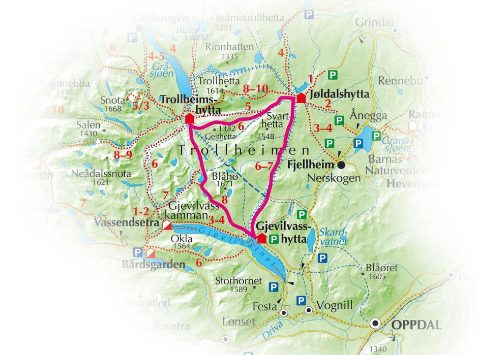 kart trollheimen Trekanten — Trondhjems Turistforening kart trollheimen