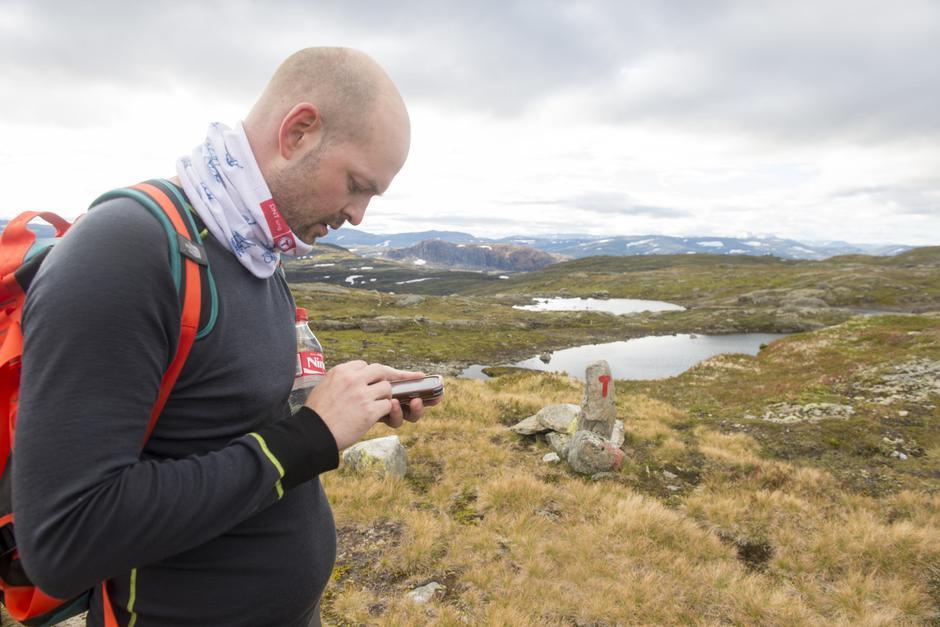 Smarttelefon kan vera nyttig på tur