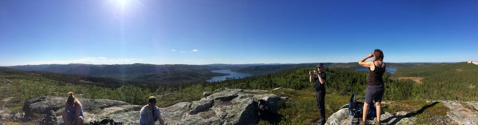 Panorama fra Slapiggen 1031 moh