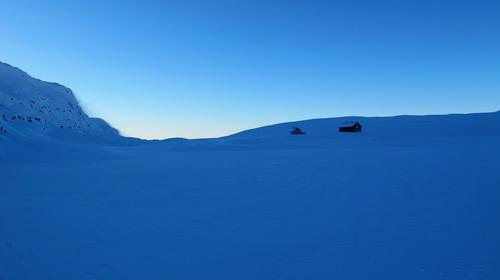 Fint føre til Vending turisthytte, Bergsdalen og Kvammafjella