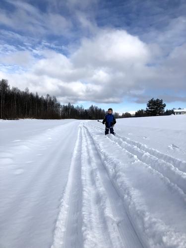 Gutt på skitur i Ullensaker