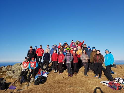 Høgste toppen på Alden er Instenova 480 moh. 11.februar 2017