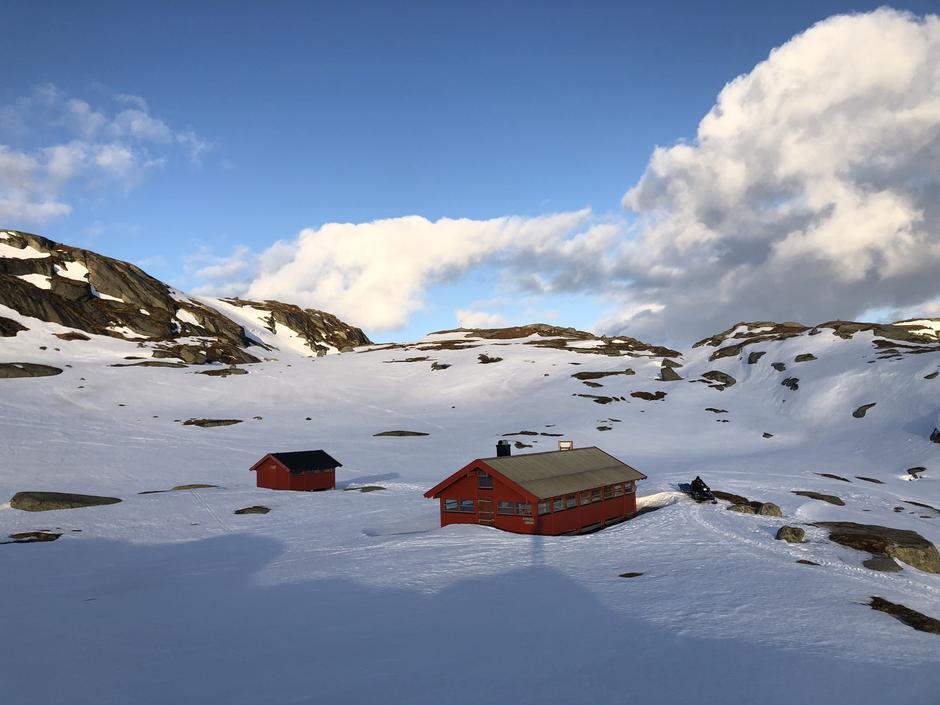 Børsteinen 10 april. Det er ikke kvistet inn til hytta. Fint å starte øverst fra Ådneram hyttegren. Lyseveien e rikke brøytet. Følg den eller bruk kart og ta av ut i det flotte terrenget.