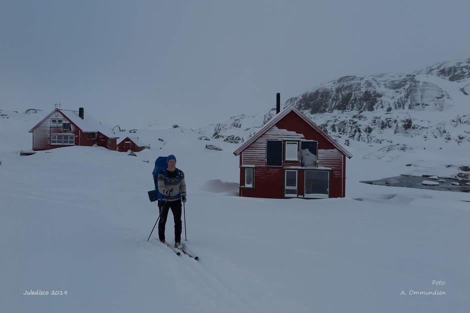 Hvit jul også på Sandvaten. Bilde er tatt den 15 desember .