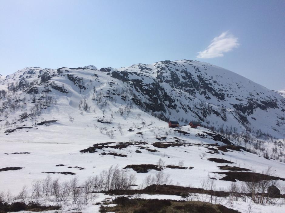 Blåfjell sett fra dalen mot Langavatn