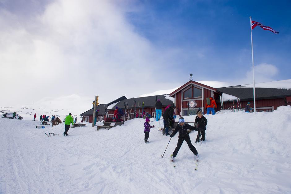 Arkivfoto fra vinterferie på Fondsbu.