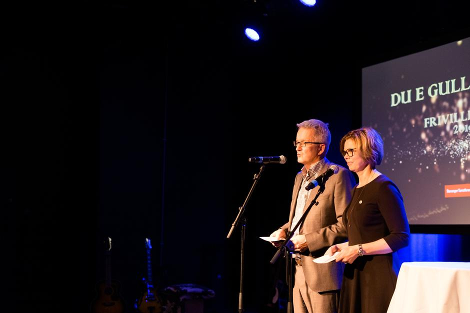 TALE: Daglig leder Preben Falck og styreleder Gunhild Holtet Eie.