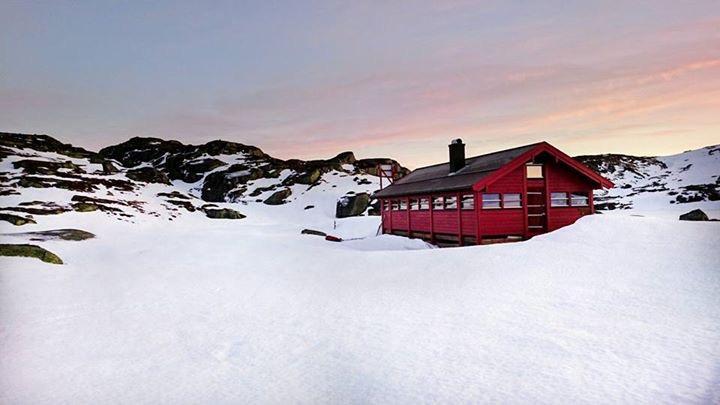 Børstein 22. januar 2017 Nok snø, men også her har snøen noen steder smeltet og blåst bort.