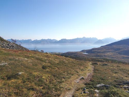 Utsikt fra hytta mot Hadselfjorden