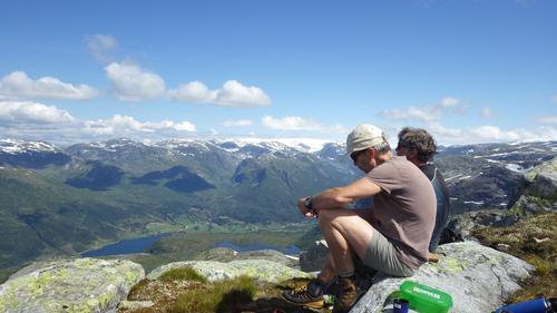 På toppen utsikt mot Grovabreen