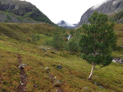 På tur opp fra Ulvsvåg