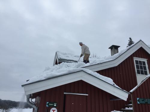 Mye snø i Østmarka
