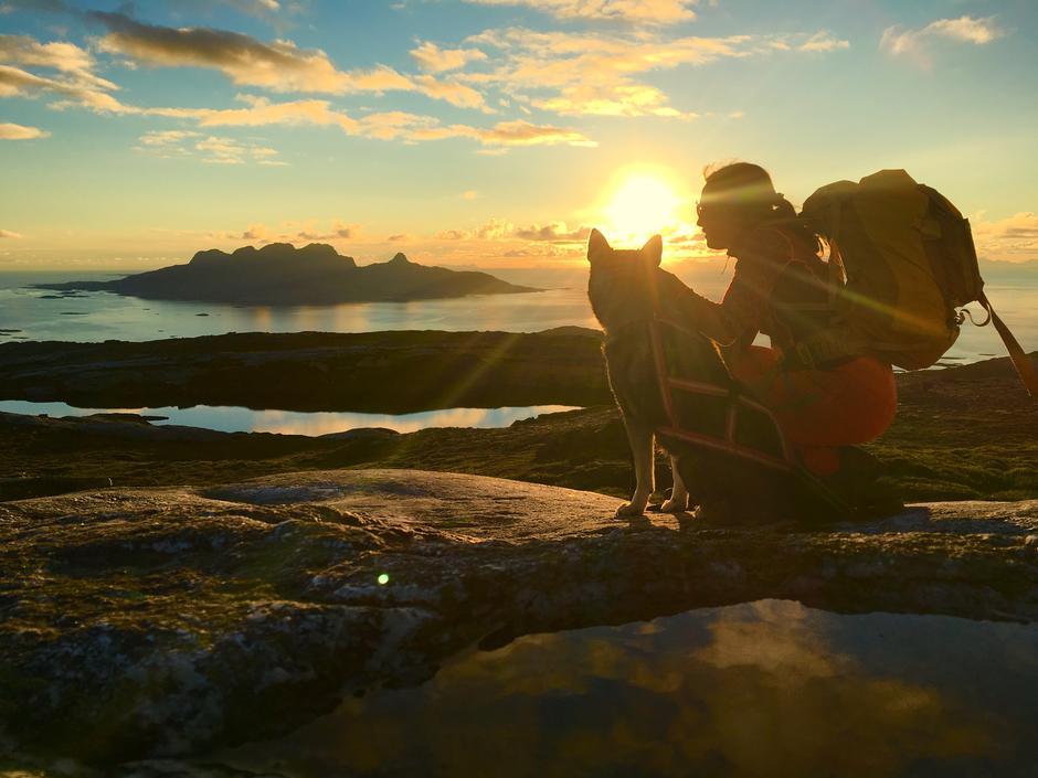 På tur ned fra Steigtinden, Bodø. Kveldssol i august ga et nydelig sommerminne.