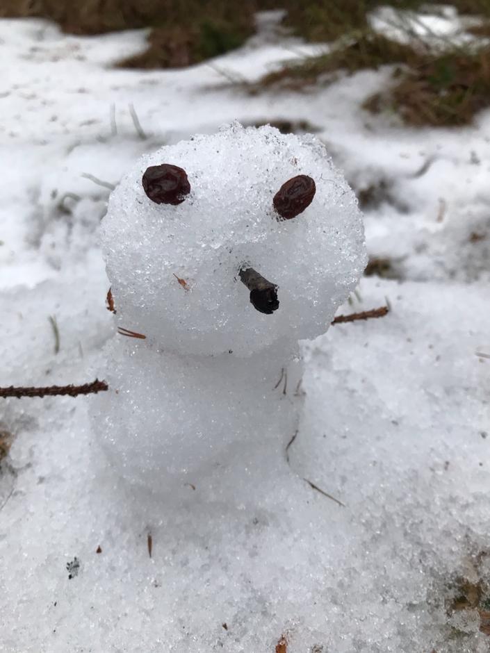 Mange lagde sin egen lille snømann for å kunne krysse den av i turbingoen.