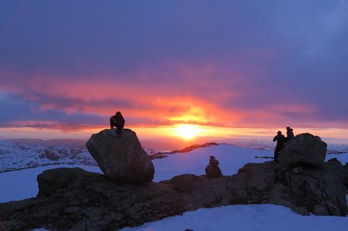 Folgefonna solnedgang