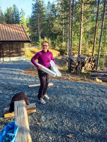 Dugnads arbeidet i Pråmvika fortsetter