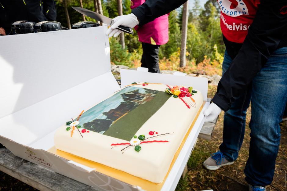 Flott kake på en minnerik dag.