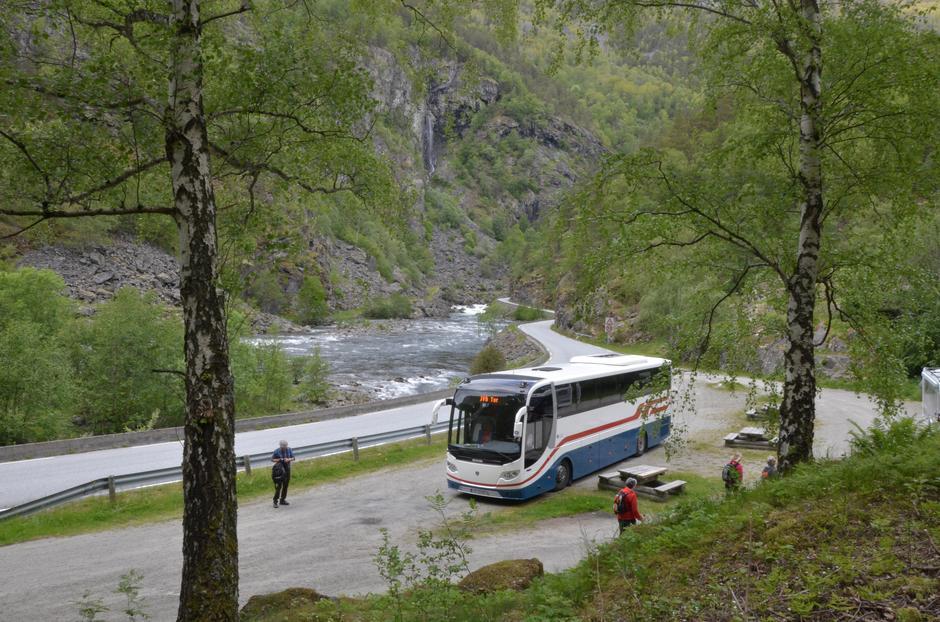 Bussen kjører deg fram til turstart.