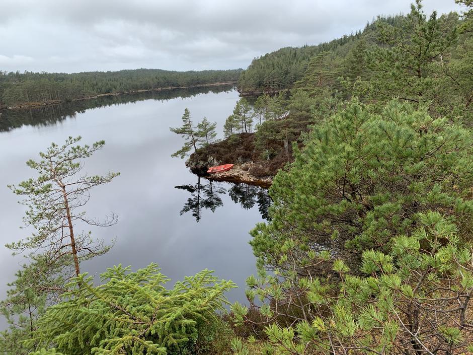 Utsikt mot nord, over Siglingavatnet.