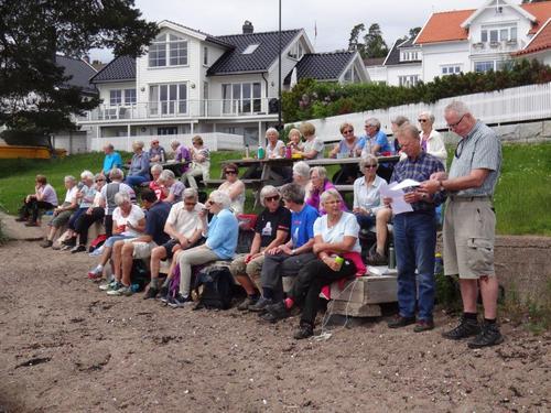 Seniorgruppas onsdagstur gikk i Søndre Slagen