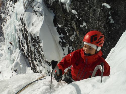 Isklatring på Indre Haugsfossen (Hemsedal)