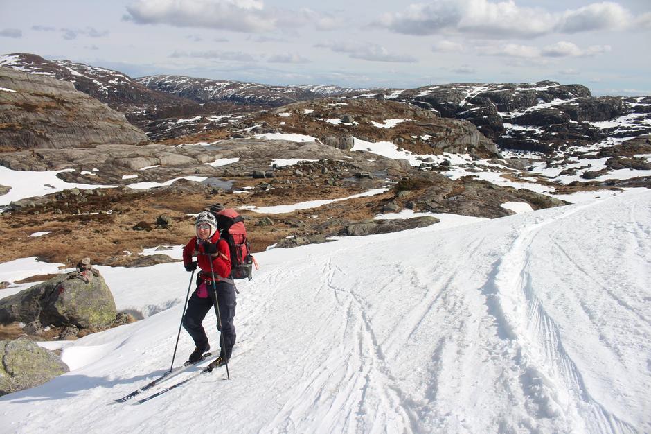 Fremdels mulig å gå på ski til Sandvaten.