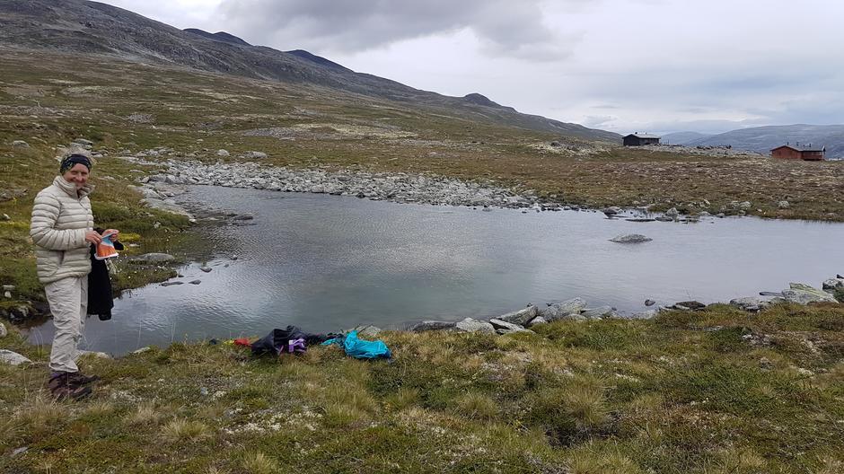 Frisk dypp i en putt ved Pyttbua (og Ulvådalavatnet).