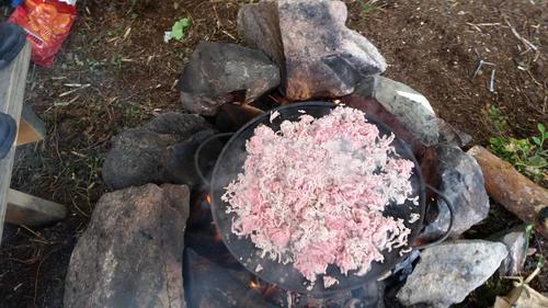 Taco lages på bålet