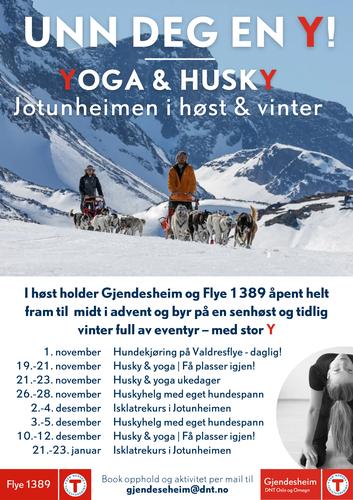 Yoga, hundekjøring og isklatring i Jotunheimen før og etter jul!