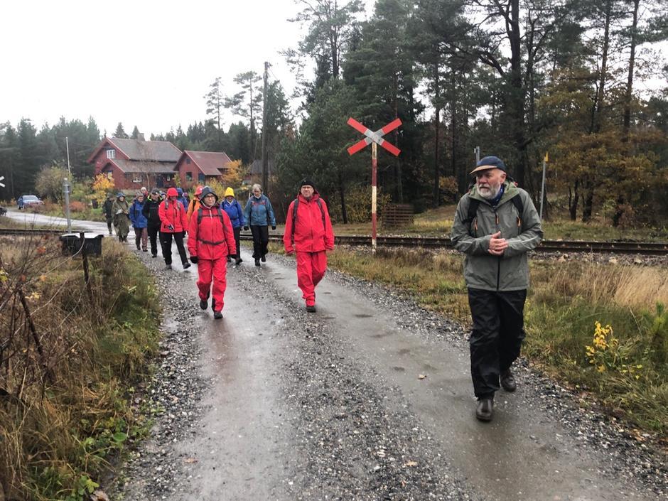 På tur mot Sagvannet i Arendal