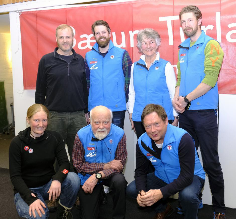 Styret 2018. Bak fra venstre Nils Mathisrud, Even Sjølie, Liv Frøysaa Moe, Erlend Haaverstad. Foran fra venstre Signe Riemer-Sørensen, Einar Skage Andersen (leder), John Hvidtsen.