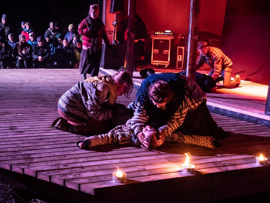 Vi fikk se deler av Spelet om Krudtværket som Nittedal Teater skal ha ferdig neste år