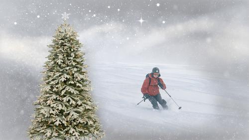Juletre-skikjøring