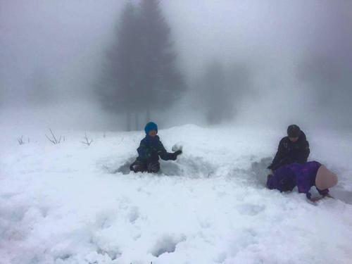 Snø og skilek på Kom deg ut-dagen
