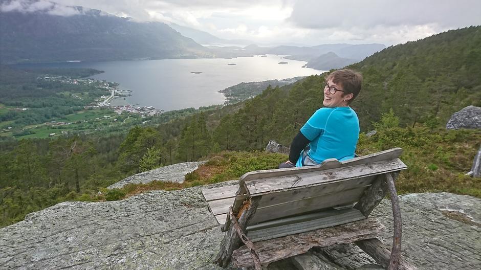 Flott utsikt frå Eikefjordstøylen.