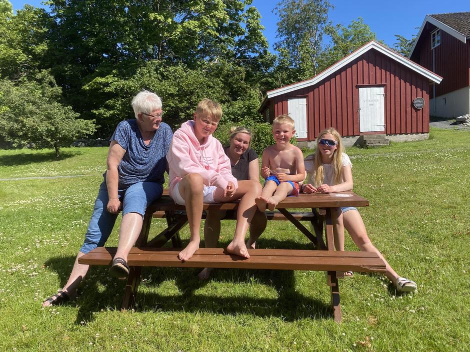 Familien Heggtveit på Jomfruland.