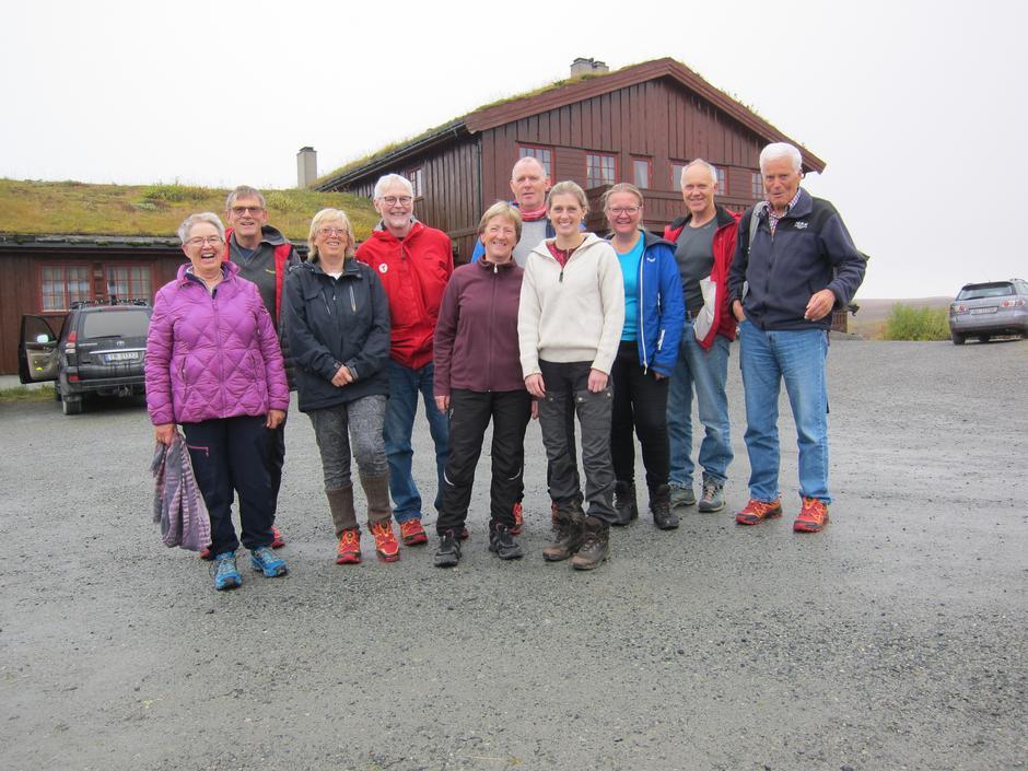 De fleste deltakerne rett før avreise fra Haugseter på søndag