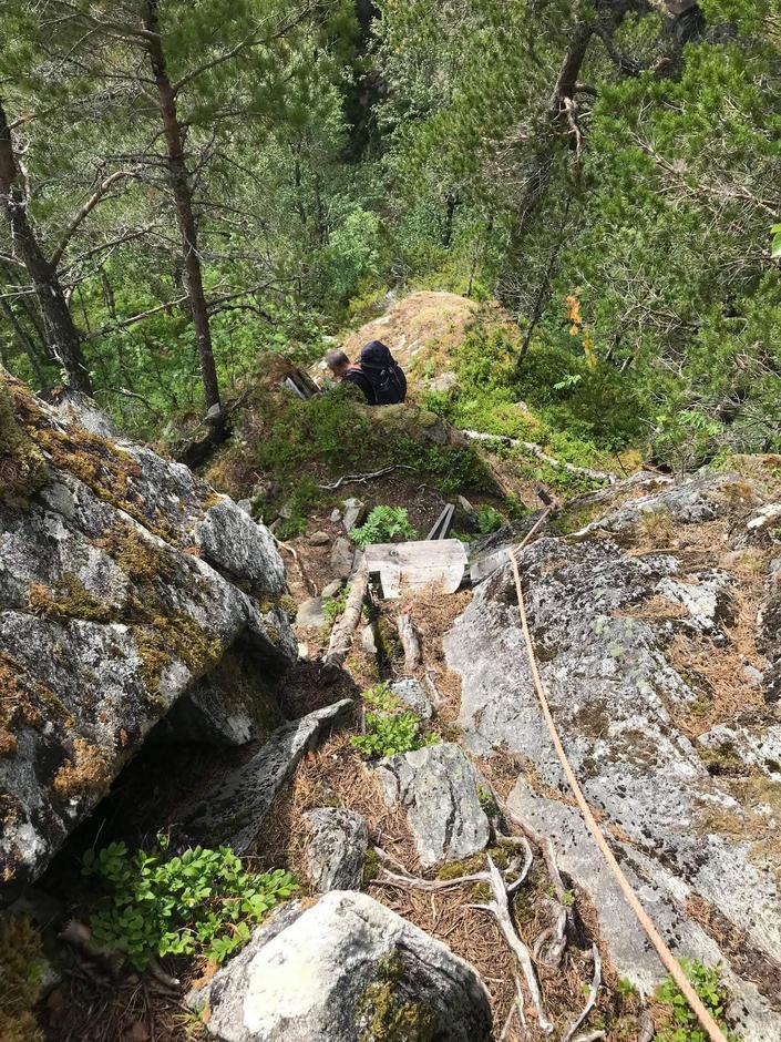 Bratt ned mot Todalssetra i Aure på Nordmøre