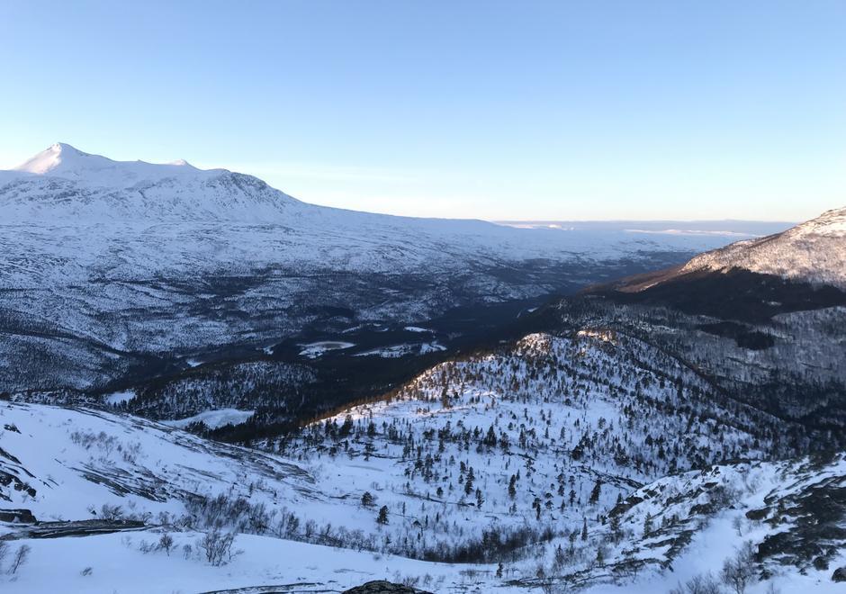 Storjordområdet i Saltdal sett fra Tjernfjellet