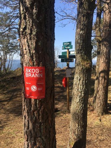 Forbud mot åpen ild i skog og mark