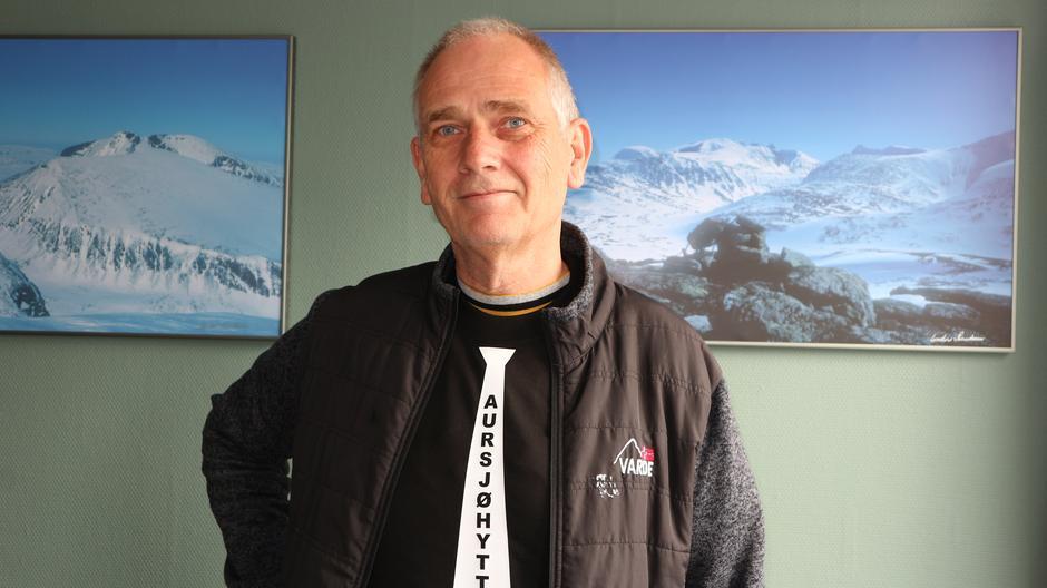 Bestyrer Nils Johan Michelsen på Aursjøhytta.