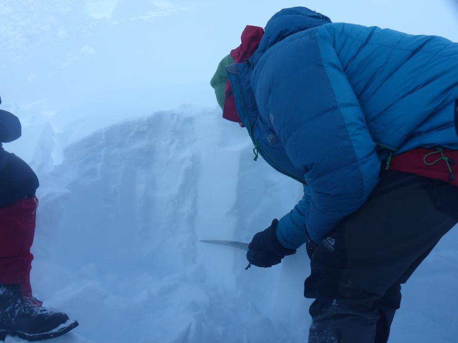 Studering av lag snøprofil