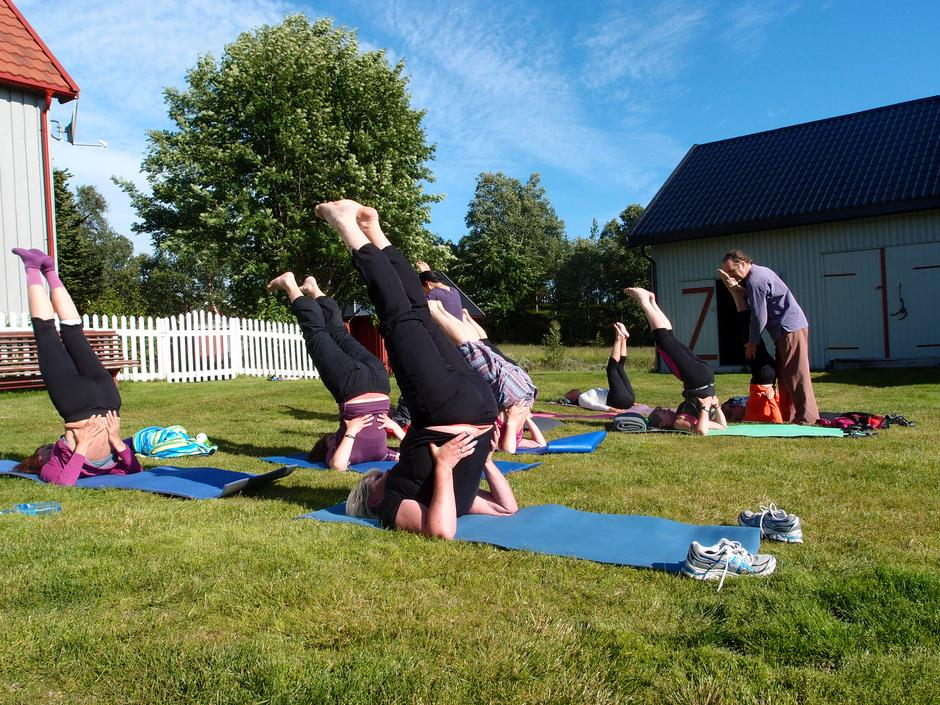 Yoga-kurs på Svukuriset.
