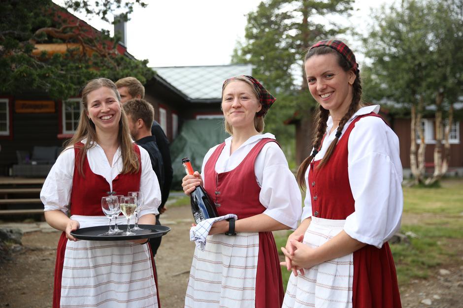 Bryllupsfeiring på Reindalseter