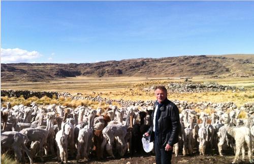 Harald Mjølne 3400 meter over havet i Peru