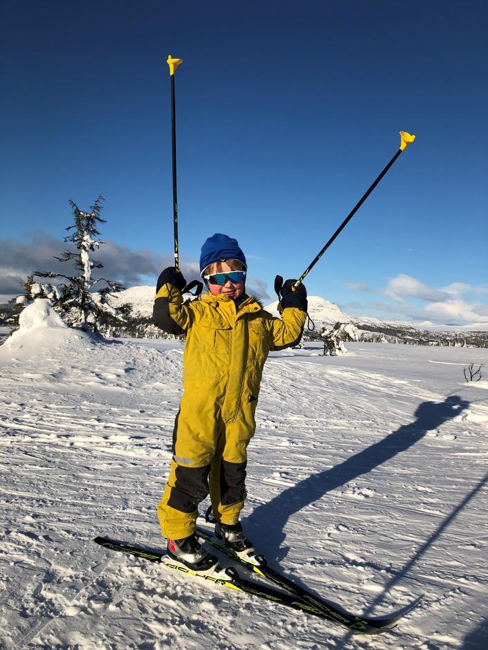 Fornøyd skiløper på Kom deg ut - dagen