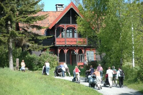 Trilletur til Sæteren Gård. Foto: Ane Marte Gussiås