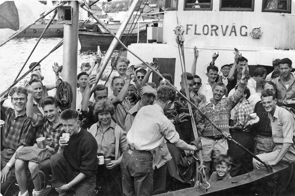 1950-tallet: Da var det båttransport til Askøy.